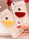 Для Кейс для iPhone 5 Движущаяся жидкость / Прозрачный Кейс для Задняя крышка Кейс для 3D в мультяшном стиле Твердый PC iPhone SE/5s/5