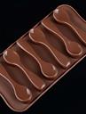 DIY Silicone Spoon Cake Mold Chocolate Mold   Random Color
