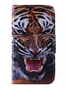 מגן עבור Samsung Galaxy מגן סמסונג גלקסי מחזיק כרטיסים ארנק עם מעמד נפתח-נסגר תבנית כיסוי מלא חיה עור PU ל J5