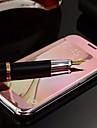 Pour Samsung Galaxy Coque Miroir Clapet Coque Coque Integrale Coque Couleur Pleine Polycarbonate pour Samsung S6 edge plus S6 edge S6 S5