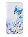 Coque Pour Samsung Galaxy Samsung Galaxy Coque Porte Carte Portefeuille Avec Support Clapet Coque Integrale Papillon faux cuir pour S6