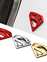 8X5.4CM Large Metal 3D 3M Chrome Auto Logo Badge Metal Superman Car Decal Sticker