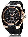 V6® Men\'s Watch Japanese Quartz Military Gold Case Rubber Band  Cool Watch Unique Watch Fashion Watch