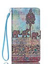 Case For Huawei Huawei P8 Lite P8 Lite Huawei Case Card Holder Wallet with Stand Full Body Cases Elephant Hard PU Leather for Huawei P8