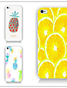 Pineapple and Lemon Pattern PC Phone Case Back Cover Case for iPhone5C