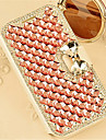 Case For Samsung Galaxy Samsung Galaxy Case Card Holder Rhinestone with Stand Flip Magnetic Full Body Cases Tile PU Leather for A8 A7 A5