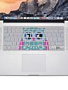 design da coruja tampa do teclado de silicone pele para MacBook Air 13,3, MacBook Pro com retina 13 15 17 nos de layout