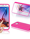 BIG D Touch View TPU & Silicone Flip Case for Samsung Galaxy S6 G9200