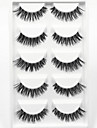 Eyelash 5 Extended Lifted lashes Volumized Natural Party Makeup Daily Makeup Full Strip Lashes Crisscross Natural Long