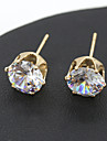 Women\'s Crystal Stud Earrings - Crystal Jewelry Silver / Golden For Wedding Party Daily Casual