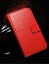 Case For Samsung Galaxy Samsung Galaxy Case Card Holder with Stand Flip Full Body Cases Solid Color PU Leather for S3