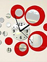 Wall Clock,Fashion Acryic / Polyester Round / Decorative Wall Stickers / Clock Stickers / Removable