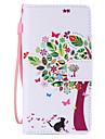 Кейс для Назначение Huawei P8 Huawei Huawei P8 Lite P8 Lite P8 Кейс для Huawei Бумажник для карт Кошелек со стендом Флип Чехол дерево