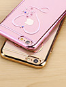 Love Diamon Electroplate Tpu With Back Case For Iphone6 Plus/6s Plus(Assorted Colors)
