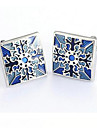 Vintage Square Blue Mens Wedding Party Cufflinks Cuff Links Groom Bestman Christmas Gifts