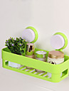 1pc Kitchen Bathroom Shelf Wall Rack With 2 Suckers Plastic Shower Caddy Organizer Holder Tray With Suction Cups Lotion Storage