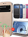 Luxury PU Leather + Tpu Smart Sliding Answer View Window Flip Full Body Case for Samsung Galaxy J5 J7 With Kickstand