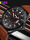 SKMEI® New Military Design Genuine Leather Date Analog Display Quartz Watch Cool Watch Unique Watch