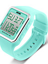 SKMEI 여성용 스포츠 시계 패션 시계 디지털 시계 디지털 알람 달력 크로노그래프 방수 LCD 고무 밴드 캔디 블랙 블루 그린 로즈