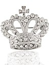 Silver Plating Rhinestone Brooch Fashion Crown Brooch Wedding Party 1pc