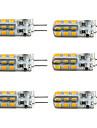 1.5W G4 Ampoules Maïs LED T 24 diodes électroluminescentes SMD 2835 100-150lm Blanc Chaud Blanc Froid 2800-3000/6000-6500K Intensité