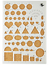 Template For Make Quilling Paper DIY Craft Art Decoration 22x15.5CM