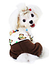Dog Jumpsuit Dog Clothes Fashion Cartoon Yellow Brown Green Costume For Pets