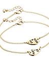 Bracelet Chaines & Bracelets Alliage Inspiration Quotidien Decontracte Regalos de Navidad Bijoux Cadeau Dore Argent,1set