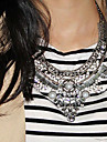 Necklace Statement Necklaces Jewelry Daily / Casual Fashion Alloy Black / Silver 1pc Gift