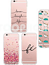 Capinha Para iPhone 6 iPhone 6 Plus Transparente Estampada Capa Traseira Desenho Animado Macia TPU para iPhone 6s Plus iPhone 6 Plus