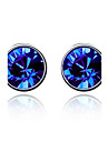 Luxury Stud Earrings for Women Vintage Crystal Stud Earrings Fashion Jewelry Accessories Silver Plated