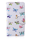 For Samsung Galaxy Case Card Holder / with Stand / Flip / Pattern / Magnetic Case Full Body Case Butterfly PU Leather Samsung A5 / A3