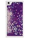 протекающие плывун жидкость Bling сверкают звезды крышка ясно жесткий футляр для Huawei Ascend P8 лайт (ассорти цветов)