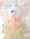 Cat Dog Dress Dog Clothes Fashion Floral / Botanical White Pink Costume For Pets
