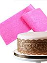 silikon spetsmattor fondant tårta deco bröllop blomma prägling mögel