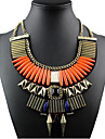Жен. Заявление ожерелья  -  Массивный Мода европейский Оранжевый Тёмно-синий Ожерелье Назначение Особые случаи День рождения Подарок
