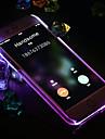 Pour Coque iPhone 6 Coques iPhone 6 Plus Lampe LED Allumage Auto Coque Coque Arriere Coque Couleur Pleine Dur Polycarbonate pouriPhone 6s