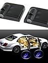 ZIQIAO Wireless Car Door Welcome Light 2 Mounted Black (Bat)