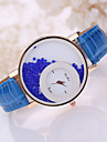 Women\'s Quartz Floating Crystal Watch Casual Watch Leather Band Charm Fashion Black White Blue Red Brown Pink