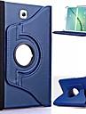 Pour Samsung Galaxy Coque Avec Support / Clapet / Rotation 360° Coque Coque Integrale Coque Couleur Pleine Cuir PU Samsung Tab S2 8.0