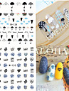 1pcs Fresh Nail Watermark Sticker 134-141