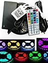 ZDM® 5m Conjuntos de Luzes 300 LEDs 1 x adaptador de 12V 3A 1 cabo de corrente alternada RGB Cortavel Auto-Adesivo Decorativa 110-120V