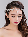 Women\'s Party Wedding Crystal Rhinestone Silver Plated Alloy Headband Forehead Head Chain
