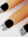 1 French Tips Guide Lace Sticker 3D Nail Stickers Abstract Fashion Daily High Quality