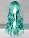 Perruques de Cosplay Sailor Moon Sailor Neptune Vert Moyen Anime Perruques de Cosplay 65 CM Fibre resistante a la chaleur Feminin