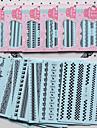 1PC Transferencia de agua adesivo Etiqueta do laco Etiquetas de unhas 3D Fita de decapagem Flor Fashion Adoravel Casamento Diario Alta