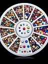 Joias de Unhas-Adoravel- paraDedo- deAcrilico- com1wheel colorful nail decoration wheel-6cm wheel- (cm)