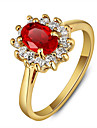 2016 Classic Sapphire Party 18K Gold Plated Cubic Zirconia Rings For Women