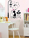Couple Of Black And White Cat Wall Stickers