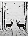 מופשט L ו-scape אופנה צורות Fantasy מדבקות קיר מדבקות קיר מטוס מדבקות קיר דקורטיביות, ויניל קישוט הבית מדבקות קיר קיר